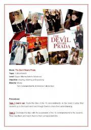 English Worksheets: The Devil wears Prada- Movie activity