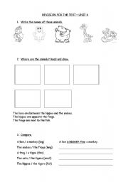 English Worksheet: Happy Street 2 Unit 4 Animals