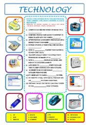 TECHNOLOGY - ESL worksheet by ascincoquinas
