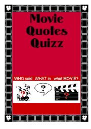 English Worksheets: Movie Quotes Quizz (1/2) - Key included