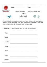 Worksheets Water Conservation Worksheets english teaching worksheets water worksheet