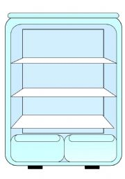 English Worksheet: What is there in the fridge? card game