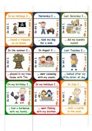 English Worksheet: So did I / I didn�t // word-order -> go fish game (PART 1 of 2)