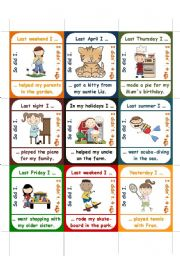 English Worksheets: So did I / I didn�t // word-order -> go fish game (PART 2 of 2)