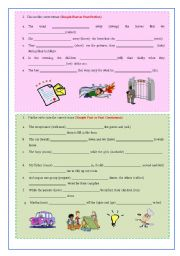 English Worksheet: Narrative Tenses 2