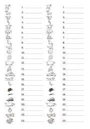 English Worksheets: guess animals