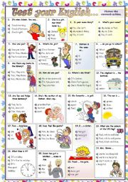 English Worksheet: TEST YOUR ENGLISH