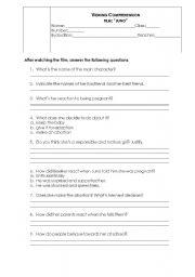 English Worksheets: Movie worksheet on the film - JUNO