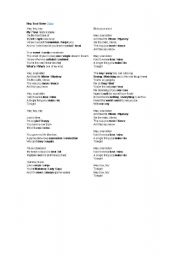 English Worksheet: Hey, Soul Sister (Song activity)