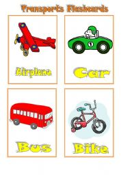 English Worksheet: Transports Flashcards- set of 6