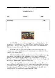 English Worksheet: Hollywood