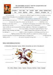 English Worksheets: Kung Fu Panda - the movie