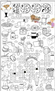 food crossword 1