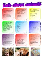English Worksheets: Talk about animals