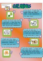 English Worksheets: sweet animals 2