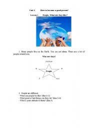 English Worksheets: character