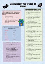 English Worksheet: MONEY