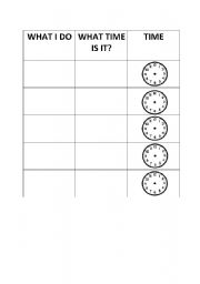 English Worksheets: Routine actions