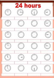 English Worksheets: 24 hours