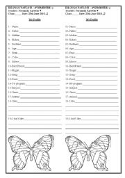 English Worksheets: My profile