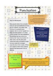 English Worksheet: Punctuation