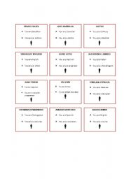 English Worksheet: Find someone who... nationalities, spelling and occupations