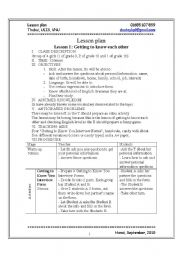 English Worksheets: Getting to know each other