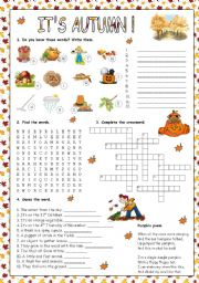 English Worksheets: IT�S AUTUMN!