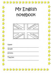 English Worksheet: My English notebook (cover)