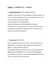English Worksheet: Liverpool -Text