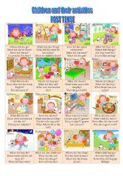English Worksheet: Past tense conversation