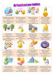English Worksheet: Talk about hobbies
