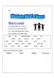 English Worksheets: Wonderful World of Nouns