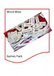 English Worksheet: Word Wise Game Pack