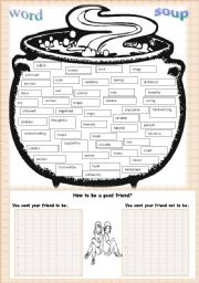 word soup-adjectives-how to be a good friend?