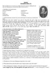 Worksheet Sonnet Worksheet english worksheet shakespeare sonnet 116