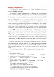 English worksheet: teaching materials for comparatives
