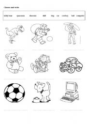 English Worksheets: Toys (especially useful for English Adventure 2)