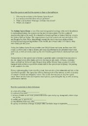 English Worksheet: Sydney - reading activity