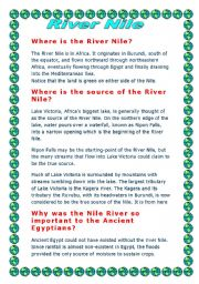 English Worksheets: River Nile