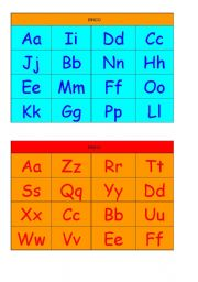 Alphabet Bingo Cards