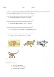 English Worksheets: ENDANGERED ANIMALS BACKPACK4 UNIT5