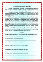 English worksheets: reading comprehension worksheets, page 216