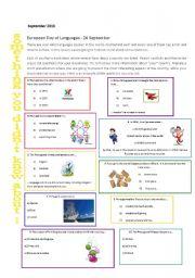 English Worksheet: European Day of Languages - Portugal