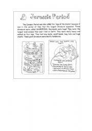 English Worksheets: Jurassic Period