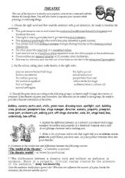 English Worksheet: Theatre
