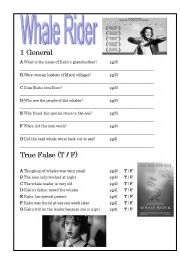 English Worksheets: Whale Rider