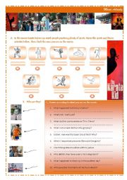 English Worksheet: The Karate Kid - 2010 - movie activity