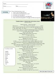 English Worksheet: song : Empire State of Mind (part II) Broken Down