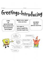 Greeting esl worksheet by jessicacarbajallive greeting greeting conversations m4hsunfo